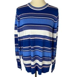 Nordstrom Halogen Striped Button Sleeves Sweater